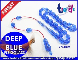 FLEXIGLASS TESBİH 7*11 mm DEEP BLUE